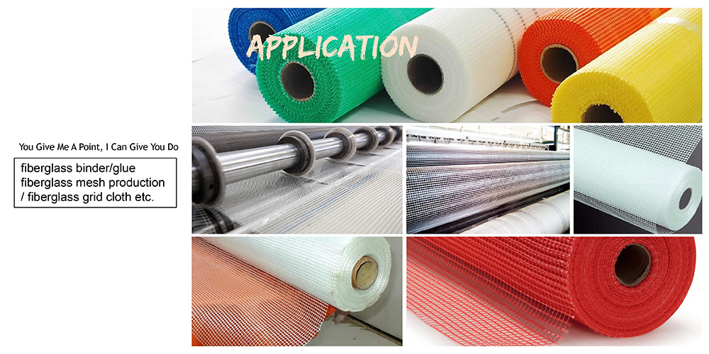 Water-based acrylic adhesive binder glue for fiberglass mesh coating