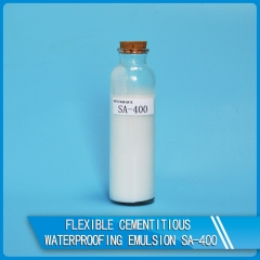 Flexible cementitious waterproofing emulsion